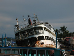 Beached Ship - Caticlan (sdrewc) Tags: ocean travel vacation boat rust philippines wharf caticlan beachedship