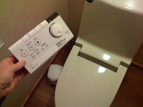 Remote control Japanese toilet