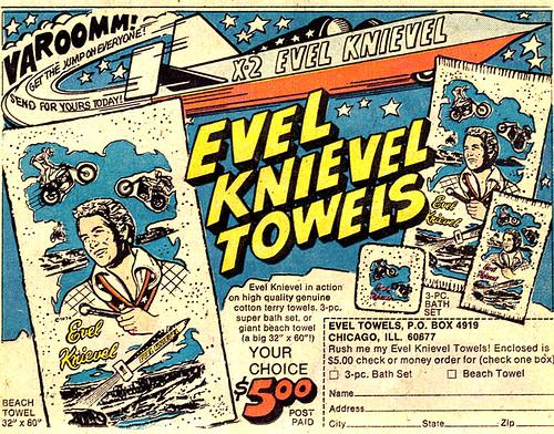 Vintage Ad #332: Viva Knievel Towels!