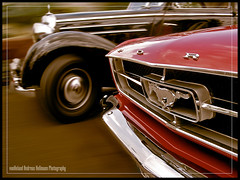 Overtaken by Surprise (van heland) Tags: show red black detail rot classic ford car sport mercedes us meeting convertible v german american mustang cabrio schwarz limousine 170 treffen deislingen 1car w136 deisslingen