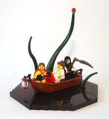 Orpheus & Eurydice (DARKspawn) Tags: greek lego fantasy vignette mythology myth diorama orpheus eurydice bignette