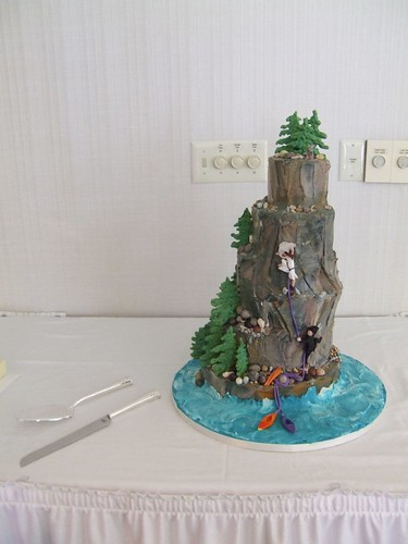 Rock Climbing Wedding Cake