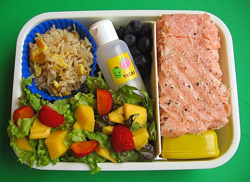Salmon & salad lunch