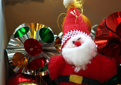 Christmas tree Santa in box