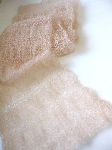 """peach"" (gathered scarf)"