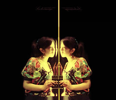 Duality. (ShanLuPhoto) Tags: portrait selfportrait reflection self mirror chinese beijing cellphone  zara fittingroom looloo loolooimage