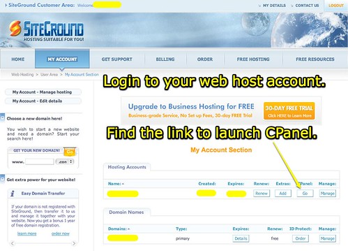 Launch CPanel