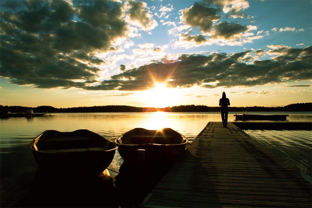 unglaublicher Sonnenuntergang