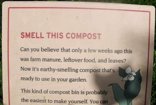 Smell this compost