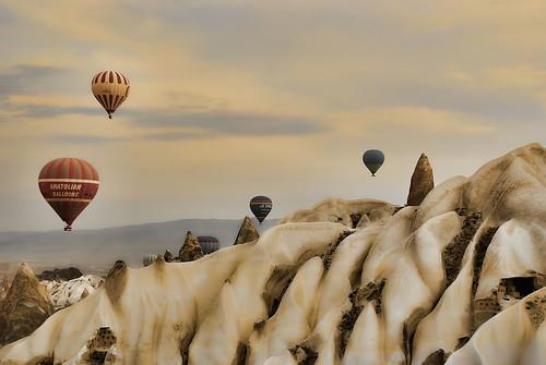 フリー写真素材, 自然・風景, 岩山, カッパドキア, 世界遺産, トルコ,