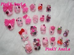 Barbie and Hello Kitty Deco Nails (Pinky Anela) Tags: japan japanese hellokitty nail barbie sanrio kawaii deco nailart pinkyanela