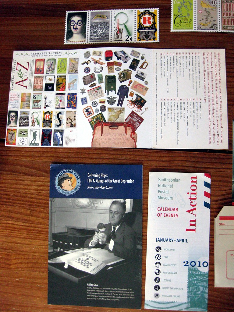 Paper goodies from the National Postal Museum