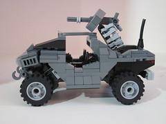 Warthog V3 (Benny Brickster) Tags: lego mosaic chief halo master spartan mongoose