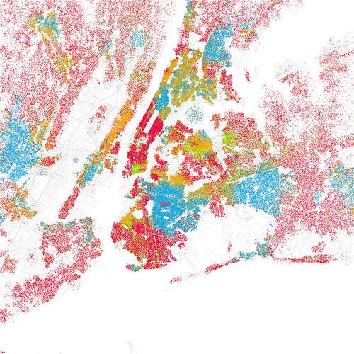 carte ségrégation spatiale New York