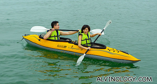 Even when kayaking, Rachel will yak on and on like a Chihuahua