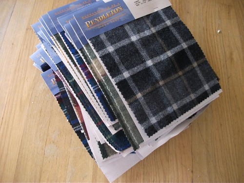 Pendleton samples on cards