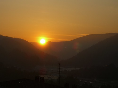Sunrise over Mondragon