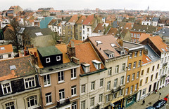 Brussels (Peter Gutierrez) Tags: street city houses roof brussels urban house streets building film public architecture buildings photo europe european cityscape rooftops belgium belgique belgie bruxelles peter gutierrez brussel etterbeek petergutierrez