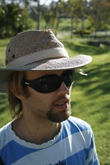 Outdoor portrait (Lyndon Wright-Huff) Tags: friends portrait people face hat sunglasses portraits person goatee head queensland feild