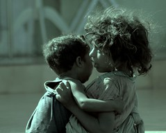 There for u... (skochar) Tags: street children sister brother