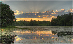 Sunset over Osgood Pond (Dave Delay) Tags: sunset newhampshire nh hdr 3xp milfordnh