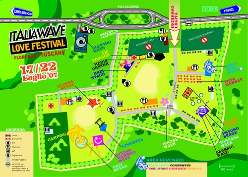 Italia Wave Love Festival Map