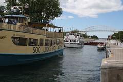 Canadian lock (jenny s. wren) Tags: vacation canada saultstemarie