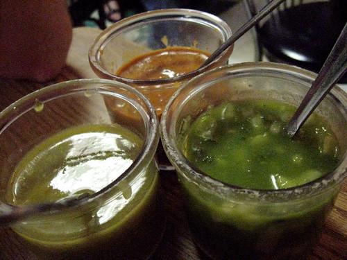 Salsas at Taqueria Y Fonda
