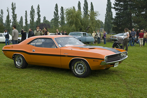 1970 Dodge Challenger Wallpaper. Orange 1970 Dodge Challenger