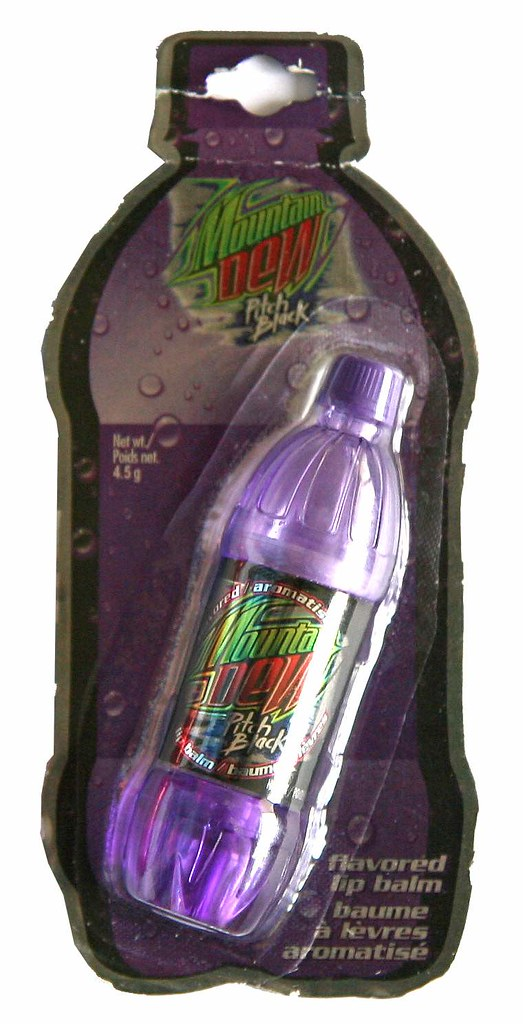 Mt Dew Pitch Black lip balm
