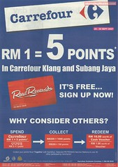 20 - 30 Sep : Carrefour's Real Rewards 5x