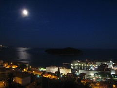 View of Dubrovnik at night