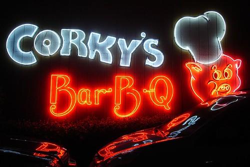 Corkys BBQ Sign
