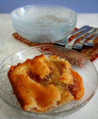 Peach Cobbler: Served