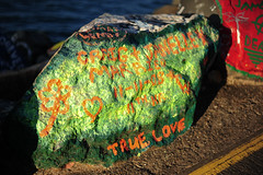 Painted rocks by the sea (Paradoxiko*Beck*) Tags: trip travel australia portmacquarie