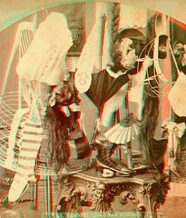 Beware Young Man anaglyph3D (depthandtime) Tags: old stockings hat vintage hair found fan stereoscopic stereophotography 3d clothing women view beware antique vanity victorian feathers deception anaglyph womens clothes stereo card parasol wig views corset stereoview wigs stereograph charms foundphoto youngman stereoscope womans anaglyphic 1870s stereographic crinoline dentures hoopskirt redcyan stripedstockings ehtanthony stereoscopeview youngideasseries