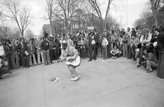 Ann Arbor, MI  April 1st, 1978 (Don Hudson) Tags: film michigan trix annarbor archives 1978 shaky diag leicam2 guitarman hashbash actionjackson shakeyjake natsci