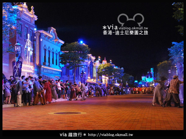 【香港旅遊】跟著via玩香港(2)~迪士尼萬聖節夜間遊行超精彩!26