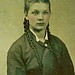 Tintype of Lovely Girl With Braids, circa 1872