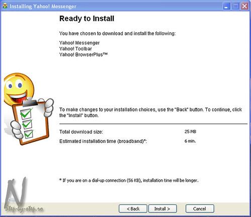 Pasul 3: Timpul de download al aplicatiei