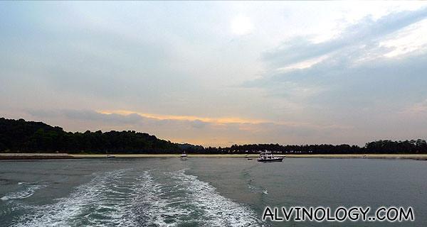 Cruising off against the setting sun
