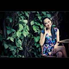 leafs (TA.D) Tags: lighting travel light summer portrait people woman white tree green art nature girl beautiful beauty nikon asia dress bokeh vietnam viet tad lovely nam aodai binhduong chandung d700