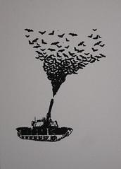 Bat Tank on paper