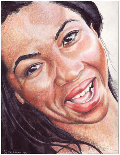 Colored pencil drawing entitled LaTonya