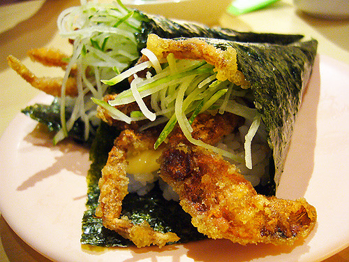 soft shell crab temaki