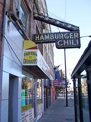 HAMBURGER CHILI (Mr. Montrose) Tags: chicago signs clark devon rogerspark hamburger sign chili
