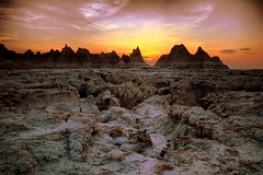 badlands NP at sunset (snapstill studio) Tags: park sunset usa southdakota national badlands hdr badlandsnationalpark