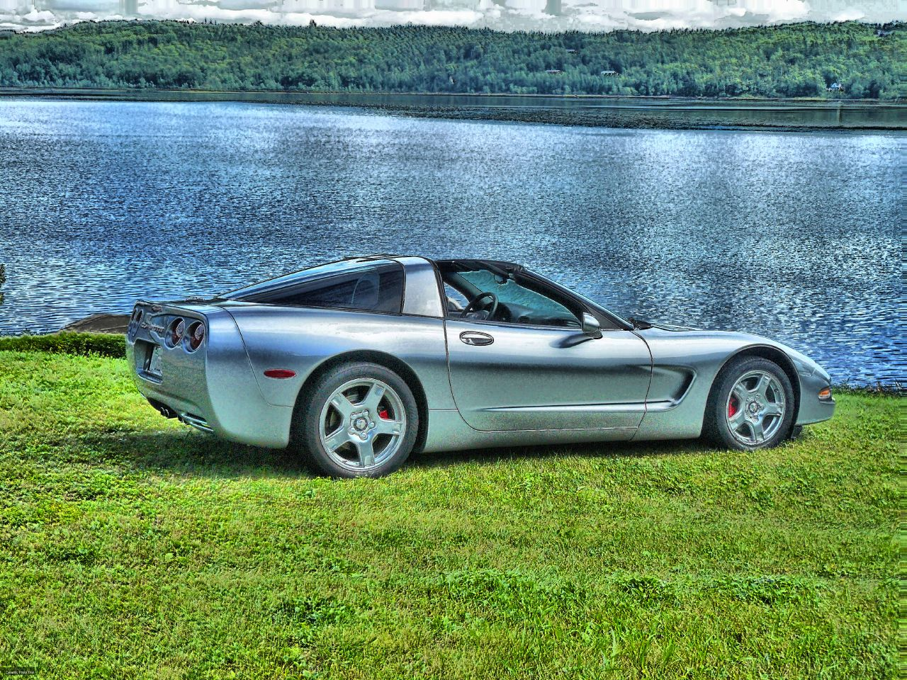 Tom's Corvette in HDR at Bob's