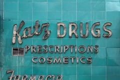 Katz Drugs Prescriptions Cosmetics (k.james) Tags: blue signs sign tile aqua neon drugs neonsign drugstore cosmetics katz prescriptions farmacia vintagesign storesign theworddrugsinbigcapitalletters