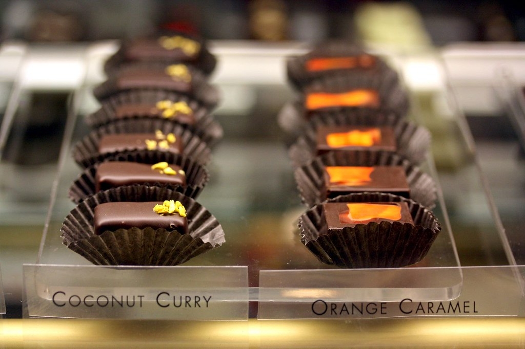 Coconut Curry & Orange Caramel Chocs